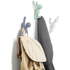 Umbra Buddy Wall Coat Hooks - Multi (Set of 3): Image 2