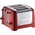 Dualit 46281 Lite 4 Slot Toaster - Metallic Red: Image 1
