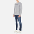 GANT Men's USA Long Sleeve T-Shirt - Grey Melange: Image 4