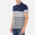 GANT Men's Dropped Stripe Pique Polo Shirt - Persian Blue: Image 2