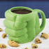 Hulk Shaped Mug - Green