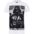Star Wars Vader Father Photo Heren T-Shirt - Wit: Image 1
