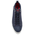 Polo Ralph Lauren Men's Clarke Canvas Hi-Top Trainers - Newport Navy: Image 3