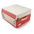 GPO Retro Bermuda Classic Style Turntable with MP3, USB, Built-In Speakers and Removable Legs - Red/Cream: Image 4