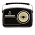 GPO Retro Rydell Portable DAB Radio - Black