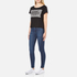 Cheap Monday Women's Had Stripe Logo T-Shirt - Black: Image 4