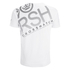 Crosshatch Herren Hicker Graphic T-Shirt - White: Image 2