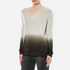 Theory Women's Adrianna Cashmere Jumper - Soft Grey/Moss: Image 2