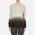 Theory Women's Adrianna Cashmere Jumper - Soft Grey/Moss: Image 1
