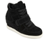 Ash Kids' Babe Suede Wedged Hi Top Trainers - Black: Image 2