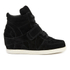 Ash Kids' Babe Suede Wedged Hi Top Trainers - Black: Image 1