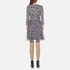 Diane von Furstenberg Women's Irina Dress - Ribbon Rectangles Khaki: Image 3