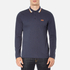BOSS Green Men's Plisy Long Sleeve Polo Shirt - Blue: Image 1