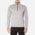 BOSS Green Men's Quarter Zip Sweatshirt - Grey: Image 1