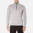 BOSS Green Men's Quarter Zip Sweatshirt - Grey: Image 1