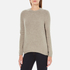 Barbour Heritage Women's Stratus X-Back Crew Neck Jumper - Stone Marl: Image 2