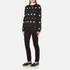 Versus Versace Women's Silver Studded Sweatshirt - Black/Silver: Image 4