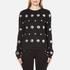 Versus Versace Women's Silver Studded Sweatshirt - Black/Silver: Image 1