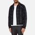 A.P.C. Men's Checked Teddy Jacket - Dark Navy: Image 2