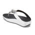 FitFlop Women's Superchain Imi-Leather Toe Post Sandals - Silver: Image 4