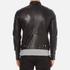 J.Lindeberg Men's Trey Leather Jacket - Black: Image 3