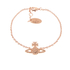 Vivienne Westwood Jewellery Women's Grace Bas Relief Bracelet - Light Peach: Image 1