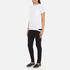 Helmut Lang Women's Medium Weight Cotton Jersey Slash Hem T-Shirt - White: Image 4