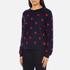 PS by Paul Smith Women's Heart Intarsia Jumper - Navy: Image 2