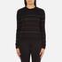 PS by Paul Smith Women's Fine Stripe Jumper - Black: Image 1