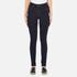 Vero Moda Women's Nine High Waisted Denim Jeans - Dark Blue Denim: Image 1