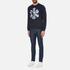 Versus Versace Men's Large Logo Crew Sweatshirt - Blu-Stampa: Image 4