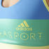 adidas Women's Stellasport Gym Bra - Blue/Yellow: Image 4
