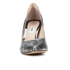 Clarks Women's Dinah Keer Leather Metallic Court Shoes - Silver Metallic: Image 4