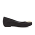 Vivienne Westwood for Melissa Women's Ultragirl 16 Ballet Flats - Black Flock Plaque: Image 1