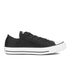 Converse Women's Chuck Taylor All Star Sting Ray Leather Ox Trainers - Black/Black/White: Image 1