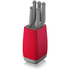 Morphy Richards 971261 Chroma 5 Piece Knife Block - Poppy