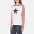 Maison Scotch Women's Long Sleeve Baseball T-Shirt with Cool Artworks - White: Image 2