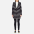 Maison Scotch Women's Bonded Wool Coat In Checks & Solids - Multi: Image 1