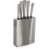 Morphy Richards 974818 Accents 5 Piece Knife Block - Stainless Steel: Image 1