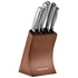 Morphy Richards 974819 5 Piece Knife Block - Copper: Image 1