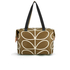 Orla Kiely Women's Linear Stem Print Zip Shopper Bag - Camel: Image 1