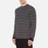 McQ Alexander McQueen Men's Long Sleeve Crew Stripe T-Shirt - Stripe White/Black: Image 2