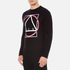 McQ Alexander McQueen Men's Abstract McQ Printed Long Sleeve Crew T-Shirt - Darkest Black: Image 2