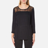 Selected Femme Women's Mussa Lace Top - Black: Image 1