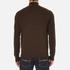 Polo Ralph Lauren Men's Half Zip Merino Knitted Jumper - Brown Marl: Image 3
