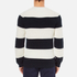 Lacoste Men's Crew Neck Stripe Sweatshirt - Navy Blue/Flour: Image 3