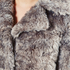 Karl Lagerfeld Women's Soft Curly Faux Fur Coat - Grey: Image 5