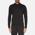 Michael Kors Men's Long Sleeve Sleek MK Polo Top - Black: Image 1