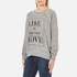 Wildfox Women's Like Button Kims Sweatshirt - Heather Vanilla Latte: Image 2