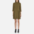 Ganni Women's Clark Dress - Dark Olive: Image 1